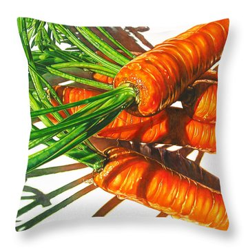 Carrot Top Shadows Throw Pillow