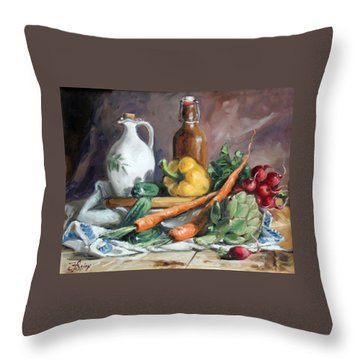 Carrots And Company Throw Pillow