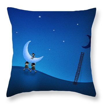 Carry The Moon Throw Pillow