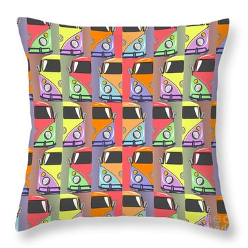 Cars Abstract  Throw Pillow by Mark Ashkenazi