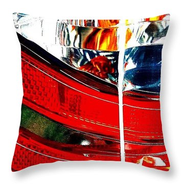 Brake Light Throw Pillow