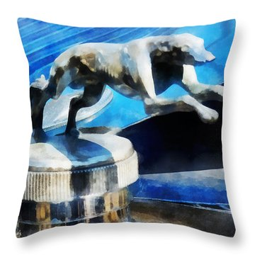 Cars - Lincoln Greyhound Hood Ornament Throw Pillow