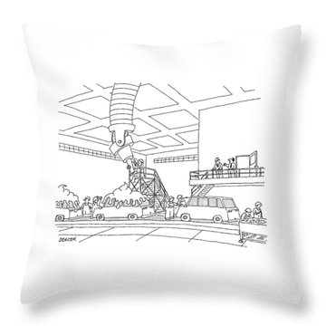 Cars On An Assembly Line Are Covered Throw Pillow