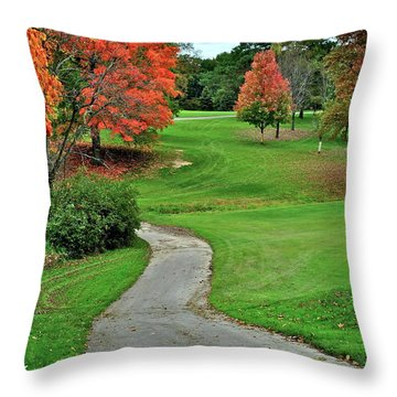 Cart Path Throw Pillow by Frozen in Time Fine Art Photography