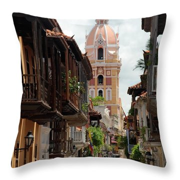Cartagena Throw Pillow by Jola Martysz