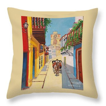 Cartagena's Calash Throw Pillow