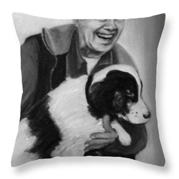 Carter And Grits Throw Pillow