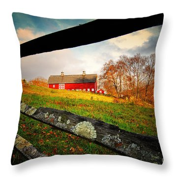 Carter Farm Connecticut Throw Pillow by Sabine Jacobs