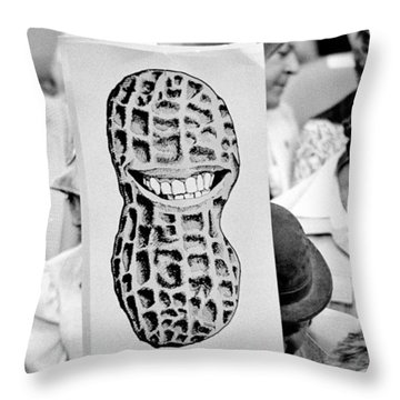 Carter For President Throw Pillow by Benjamin Yeager