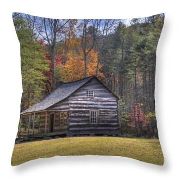 Carter-shields Cabin Throw Pillow by Crystal Nederman