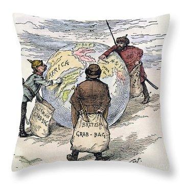Cartoon - Imperialism 1885 Throw Pillow by Granger