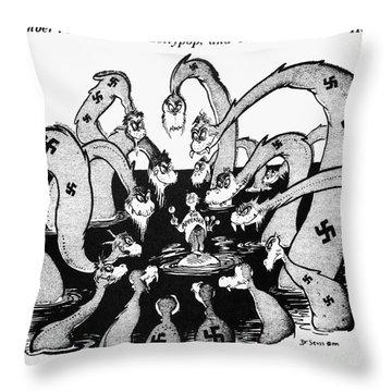 Cartoon - World War II Throw Pillow by Granger