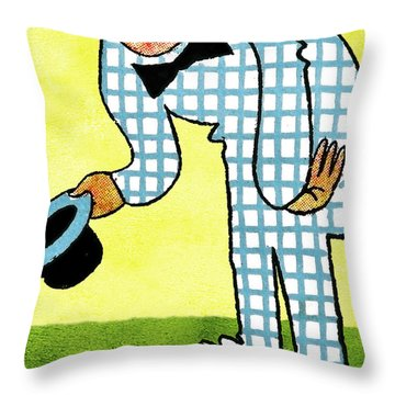 Cartoon 02 Throw Pillow by Svetlana Sewell