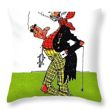 Cartoon 10 Throw Pillow by Svetlana Sewell