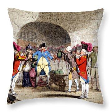 Cartoon British Debt, 1786 Throw Pillow