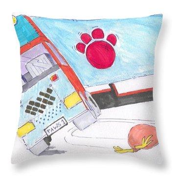 Cartoon Truck Lorry Throw Pillow