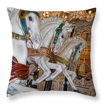 Caruosel Horses Throw Pillow