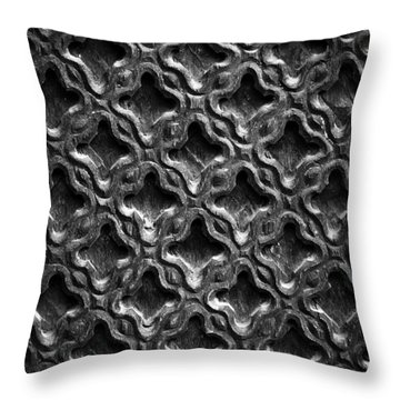 Carved Wood Texture Throw Pillow