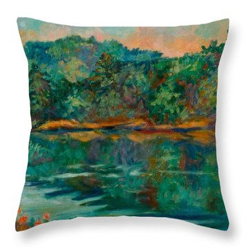 Carvins Cove Throw Pillow by Kendall Kessler