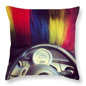 #carwash Throw Pillow