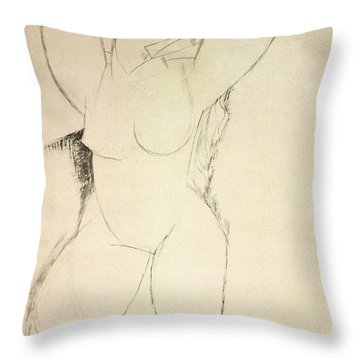 Caryatid Throw Pillow by Amedeo Modigliani