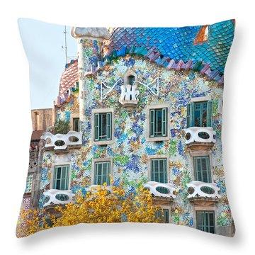 Casa Batllo - Barcelona Throw Pillow