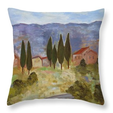 Casas De Segovia Throw Pillow