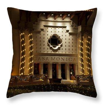 Casa Monica Throw Pillow by Kenneth Albin