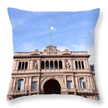 Casa Rosada Throw Pillow