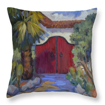 Casa Tecate Gate 2 Throw Pillow by Diane McClary