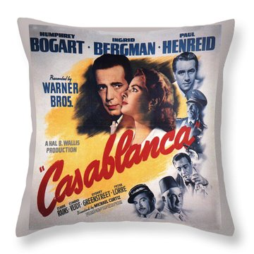 Casablanca In Color Throw Pillow by Georgia Fowler