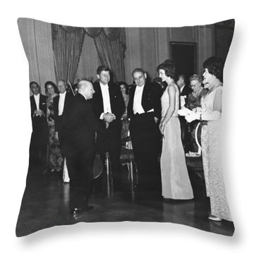 Casals White House Convert Throw Pillow by Underwood Archives