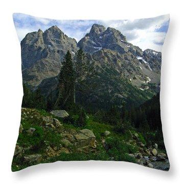 Cascade Creek The Grand Mount Owen Throw Pillow