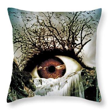 Cascade Crying Eye Throw Pillow