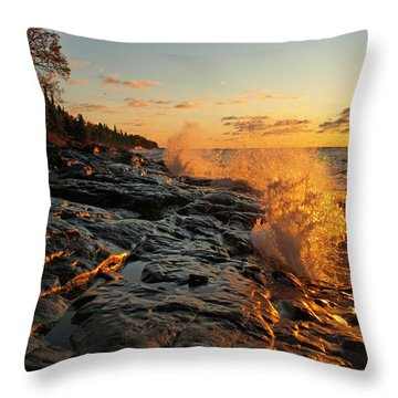 Cascade Sunrise Throw Pillow by Melissa Peterson