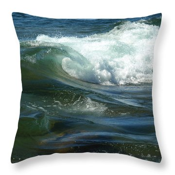 Cascade Wave Throw Pillow by James Peterson