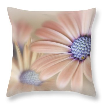 Cascading Daisies Throw Pillow by David and Carol Kelly