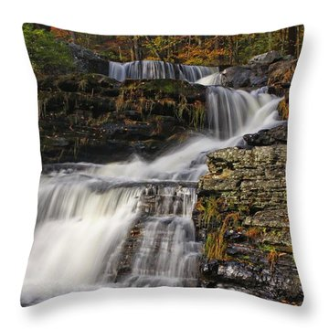 Cascading Forever Throw Pillow by Marcia Lee Jones