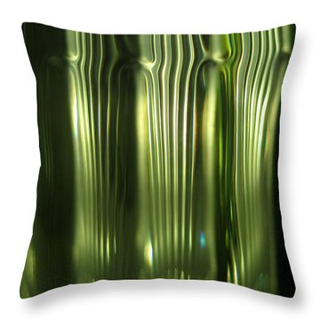 Cascading Green Throw Pillow