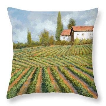 Case Bianche Nella Vigna Throw Pillow by Guido Borelli