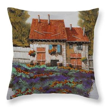Case E Lavande Throw Pillow by Guido Borelli
