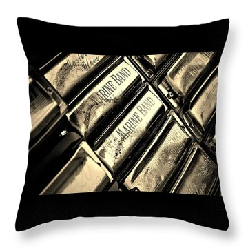 Case Of Harmonicas  Throw Pillow