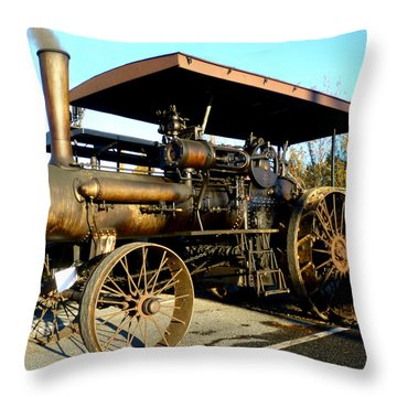Throw Pillow featuring the photograph Case Steam Tractor by Pete Trenholm