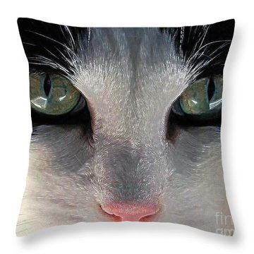 Casey Eyes Throw Pillow