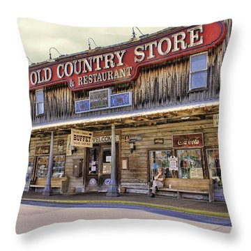 Casey Jones Village Store Throw Pillow