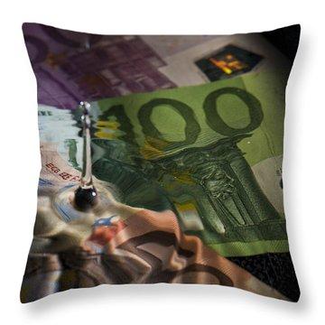 Cash Flow Throw Pillow