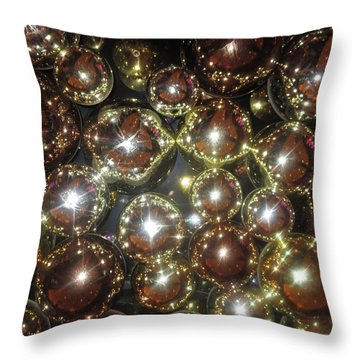 Throw Pillow featuring the photograph Casino Sparkle Interior Decorations by Navin Joshi