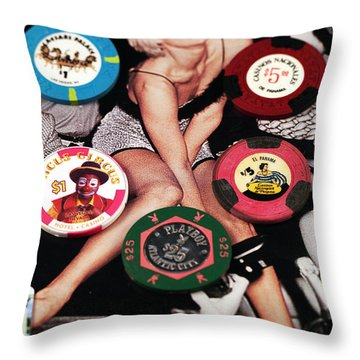 Casino Winnings Throw Pillow