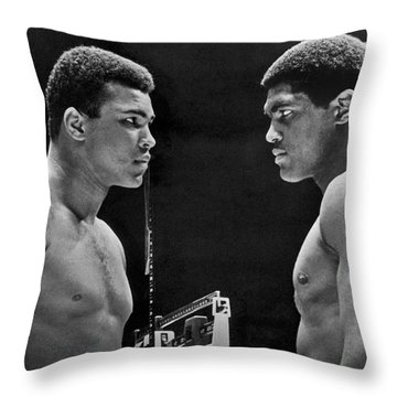 Cassius Clay Gives Whammy Eye Throw Pillow