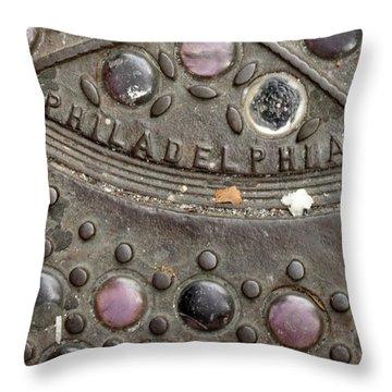 Cast Iron Philadelphia Throw Pillow by Christopher Woods